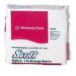 "Kimberly-Clark 98109 10"" x 9"" Scott BeveraNapkins White"