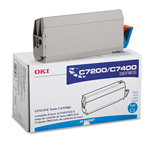 Okidata Type C2 Toner Cartridge - 1 x Cyan - 10000 Pages