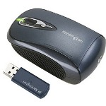 Acco Kensington Si650m Notebook Wireless Optical Mouse - Mouse - Optical - Wireless - RF - USB Wireless Receiver - Black, Silver