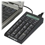 Acco Kensington Notebook Keypad/Calculator w/USB Hub - Keypad - USB - 19 Keys - Black - US