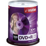 Imation 100 x DVD+R - 4.7 GB 16X - Spindle - Storage Media
