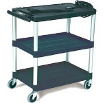 Rubbermaid Black MediaMaster Audio-Visual Media Cart, 33""