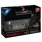 Visiontek Radeon HD 3650 - graphics adapter - Radeon HD 3650 - 512 MB