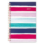 Cambridge Carousel Stripe Weekly/Monthly Planners, 4 7/8 x 8, Navy, Pink, 2019