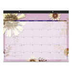 At-A-Glance Paper Flowers Desk Pad, 22 x 17, 2018