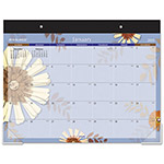 At-A-Glance Flowers Monthly Desk Pad, 22 x 17
