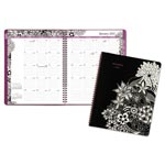 At-A-Glance Floradoodle Professional Monthly Planner, 9 3/8 x 11 3/8, 2017-2018