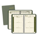 At-A-Glance Recycled Weekly/Monthly Appointment Book, 4 7/8 x 8, Green, 2017
