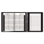 At-A-Glance Small Weekly Appointment Book, Tel/Add Book, Writing Pad, 4 7/8 x 8, Black