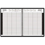 At-A-Glance Eight-Person Group Practice Daily Appointment Book, 8-1/2 x 11, Black