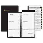"At-A-Glance Weekly Appt Book, Jan-Dec, 2 Pages per Week, Refillable, 3-1/4""x6-1/4"" Page Size, Black"