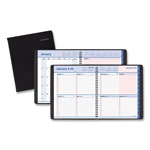 At-A-Glance QuickNotes Weekly/Monthly Appointment Book, 8 x 9 7/8, Black/Pink, 2017