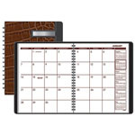 At-A-Glance Monthly Designer Collection Planner, 6 7/8 x 8 3/4, Brown Crocodile Cover