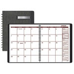 At-A-Glance Monthly Designer Collection Planner, 6 7/8 x 8 3/4, Black Check Cover