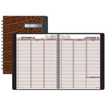 At-A-Glance Weekly Designer Collection Appointment Book, 8 1/4x10 7/8, Brown Crocodile Cover