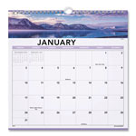 "At-A-Glance Open Plan Landscape Scenes Monthly Wall Calendar, Spiralbound, 12"" x 12"""