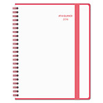 At-A-Glance Color Play Weekly/Monthly Planner, 8 1/2 x 11, White/Red, 2016