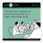 At-A-Glance Day Dream SomeECards - Office Wall Calendar, 12 x 11, 2016-2017