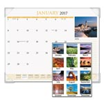 At-A-Glance Scenic Monthly Desk Pad Calendar, 22 x 17, 2018