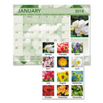 At-A-Glance Antique Floral Full Color Photographic Monthly Desk Pad Calendar, 22 x 17