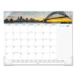 "At-A-Glance Harbor Views Landscape Monthly Desk Pad, 22"" x 17"""