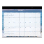 "At-A-Glance Recycled Tropical Escape Desk Pad, 22"" x 17, Design"