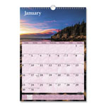At-A-Glance Recycled Scenic Monthly Wall Calendar, Jan-Dec, Wall, 12 x 17, 2013