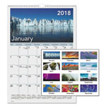 At-A-Glance Mother Nature Monthly Wall Calendar, 12 x 17, 2018