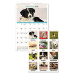 At-A-Glance Puppies Monthly Wall Calendar, 12 x 17, 2018