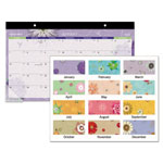 "At-A-Glance Monthly Desk Pad, 1MPP,17-3/4""X11"", Flowers/Multi"