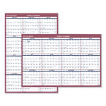 "At-A-Glance Reversible Yearly Wall Planner, Paper Version, 24"" x 36"", Red/Blue"
