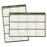 At-A-Glance Recycled Vertical/Horizontal Wall Calendar, 36 x 24, Green/White