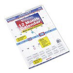 "At-A-Glance Tabbed Monthly Wall Calendar With Reminder Decals, 12"" x 17"""