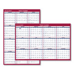 At-A-Glance Erasable Vertical/Horizontal Wall Planner, 32 x 48, Blue/Red, 2019