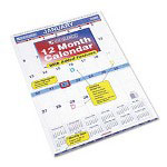 "At-A-Glance Tabbed Monthly Wall Calendar With Reminder Decals, 15 1/2"" x 22 3/4"""