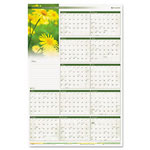 "At-A-Glance Floral Reversible/Erasable Vertical/Horizontal Dated Yearly Wall Calendar, 24"" x 36"""