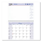 At-A-Glance Wirebound Desk/Wall Monthly Calendar, 11 x 8, 4 color printing