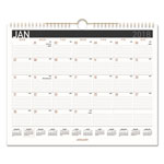 At-A-Glance Contemporary Medium Monthly Wall Calendar, 15 x 12, 2017