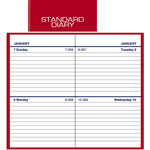 "At-A-Glance Standard Business Diary, 2 Days/Page, 2 3/4""x4 5/8"", Red"