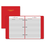 "At-A-Glance Red 3 Ring Daily Diary, Jan to Dec,1PPD,1"" Cap, 5 3/4""x8 1/4""Pg Sz"
