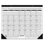 "At-A-Glance Monthly Desk Pad, Jan-Dec 2014, 22""x17"", Black/White"