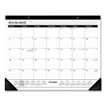 At-A-Glance Nonrefillable 1 Color Monthly Desk Pad, 22x17, Academic Year, Sept. Dec., Black