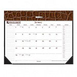 "At-A-Glance Brown Chocolate Cover 22"" x 17"" Designer Collection Refillable Desk Pad"