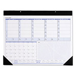 "At-A-Glance Weekly/Monthly Desk Pad/Wall Calendar, 22"" x 17"", Blue/Black Printing"