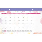 "At-A-Glance Calendar Desk Pad, Mthly, Jan-Dec, 1PPD, 17-3/4"" x 11"", Multi"
