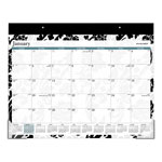 At-A-Glance Madrid Desk Pad, 22 x 17, Black-and-White Design, 2019