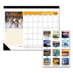 At-A-Glance Successories Full Color Motivational Monthly Desk Pad Calendar, 22x17