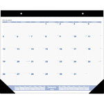 "At-A-Glance Desk Pad Calendar, Monthly, Jan Dec, 24""x19"", Black Binding"
