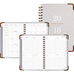 At-A-Glance Light Gray Wirebound Weekly/Monthly Planners, 5 3/4 x 8 1/2, Gray, 2018