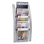 "ALBA Literature Rack, Wall, 4 1/3"" x 13"" x 27 1/2"", 5 Pocket"